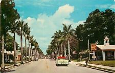 Bradenton Florida~14th Street~Furnished Apartments~Color TV~Air~NICE 1950s Car