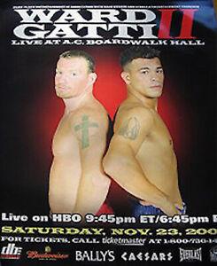 Original Vintage Micky Ward vs. Arturo Gatti 2 Boxing Classic Fight Poster