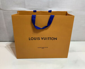"""LOUIS VUITTON Authentic Paper Gift Shopping Bag LARGE SIZE 16"""" x 13"""" x 6"""""""