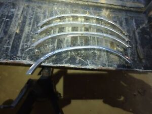 1987 Chrysler Lebaron Chrome Fender Trim Complete Set Of 4 Mopar