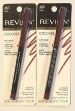 (2) Revlon Colorstay Lip Liner, 665 Plum