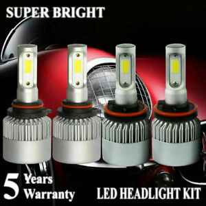 H11 9005 LED Total 2600W 390000LM Combo Headlight High Low Beams 6000K White Kit