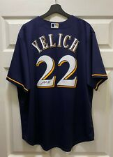Christian Yelich #22 Signed Brewers Majestic Jersey AUTO Sz XL STEINER COA