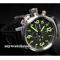 50mm Parnis green marks Big Face full Chronograph day date mens quartz Watch P35