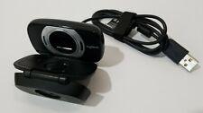 Logitech C615 USB Portable HD WebCam Black 1080P 30FPS Tripod Mount Folds