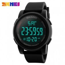 SKMEI 1257 BLACK SILICON STRAP WATCH FOR MEN AND WOMEN - COD FREE SHIPPING