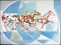 Jay Woose, Horse Carriage Vintage Print, Limited Edition Serigraph & Silkscreen