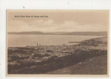 Birds Eye View Of Largs & Bay Vintage Postcard 327b