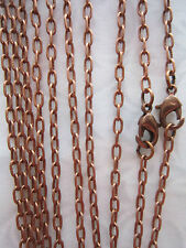 "5x 21"" Antique Copper  Chain Necklaces with lobster clasp jewellery making"