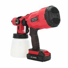 18V Cordless Spray Gun Paint Sprayer w/ battery for Painting Car FurnitureWall