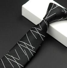 Chic Men's Luxury Business Slim Ties Jacquard Woven Skinny Waterproof Neck Ties