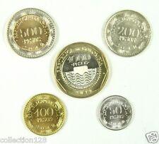 Colombia coins set of 5 pieces 2012 UNC