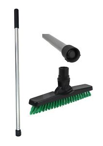 Short Handled Grout line cleaning Scrubbing Brush Kit (Green)
