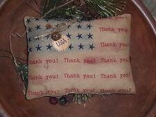 1 Primitive Rustic Country Americana  Flag Ornie Bowl Filler Pillow Shelf Sitter