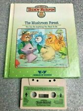 Teddy Ruxpin bear tape cassette  and 1985 book THE MUSHROOM FOREST WOW