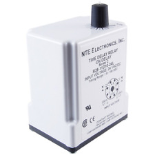 NTE Electronics R30-11D10-24K RELAY TIME DELAY DPDT INTERVAL TIME 10AMP 24VDC