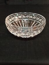 Small Clear Pressed Glass Nut Candy Trinket Bowl