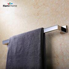 60cm Bathroom Accessories Stainless Steel Mirror Square Towel Rail Single Bar