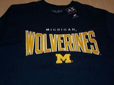 NWT NCAA MICHIGAN WOLVERINES SHORT SLEEVE BLUE T-SHIRT MENS MEDIUM