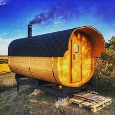 Cedar Barrel Sauna - Superior Quality 42mm Thick Timber with Wood Burning Stove
