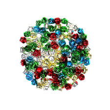 15mm Mixed Assorted Colour Christmas Xmas Metal Jingle Bells Decoration 100 Pack
