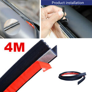 4M V Shape Car Door Window Trim Edge Moulding Rubber Weatherstrip Seal Strip