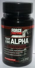 FORCE FACTOR Test X180 Alpha Testosterone Booster Men 28 Capsules Exp: 11/2018