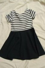 Ralph Lauren Blue Label Girls Size 6 Polo Dress White Navy Blue Stripes