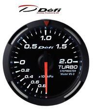 Defi Racer 60mm Car Boost 2 Bar Gauge - White - JDM Style Stepper Motor