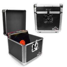 "Gorilla LP100 12"" LP Vinyl Record Box DJ Storage Carry Case Carbon Black (Pair)"