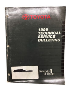 Toyota Technical Service Bulletins Manual Car 1999 Book Models