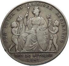 1841 Germany German States Wurttemberg WILHELM I Silver Gulden Coin i74517