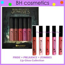 NEW BH Cosmetics 5-Color PRIDE+PREJUDICE+ZOMBIES LIP GLOSS Set FREE SHIPPING