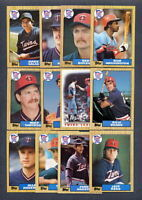 1987 Topps Minnesota Twins TEAM SET w/ Traded (37)