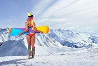 A1 | Snowboard Chick Poster Art Print 60 x 90cm 180gsm Mountain Girl Gift #8413