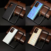 For Samsung Galaxy Z Fold 2 5G Colorful Shockproof Leather Hard Case Cover Shell