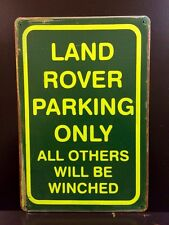Land Rover Parking Only Metal Sign / Vintage Garage Wall Decor (30 x 20cm)