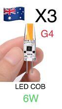 3pcs  G4 Led Cob 6W AC DC 12V LED Lampe Globe Light Light Blub Warm White
