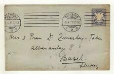 A2175) BAYERN 1912 Cover Wurzburg Basel