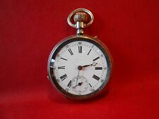 Pocket Watch Silver 835 with Enamel Dial 48 mm