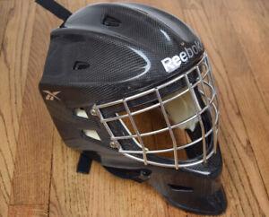 Reebok 9K Ice Hockey Goalie Mask Sr. Senior Size Medium Carbon Fiber EUC