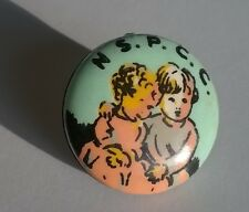 Vintage NSPCC Pinned Badge Showing 2 Toddlers - Highly Collectable - Early 1960s