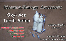 Oxygen/Acetylene Tanks & Torch on Cart - Diorama/Garage Equipment Abt 1/43 Scale