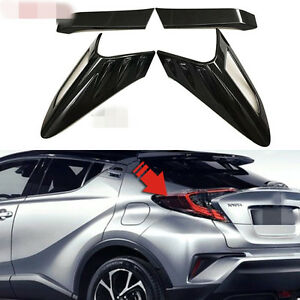 Chrome Rear Tail Light Taillight Cover For Toyota chr Accessories 2017 2019 4pcs