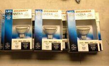 Lot of 3 Sylvania Ultra High Definition White Flood Light Bulbs NEW! MR16