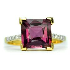 2.00ct Natural Purplish Pink Spinel With 10pcs 0.06ct VS/G DIAMOND 18K Gold Ring