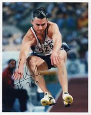 Jonathan Edwards, triple jumper, Team GB, signed 10x8 inch press photo. COA.