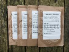 4 x BAKED BEANS RATION PACK MEAL - Army Ready MRE Camping Survival Food DofE