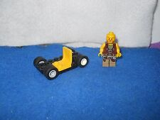 LEGO COWBOY & CAR BASE WITH WHEELS AND CAR SEAT BUILDING TOY.