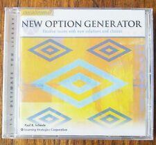 New Option Generator - Paul R. Scheele - Paraliminal CD - NEW - SEALED